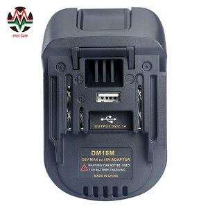 Image 1 - 20V כדי 18V סוללה ממיר מתאם DM18M עבור Dewalt עבור Mikwaukee כדי ליתיום מטען לקיטה BL1830 BL1850 סוללות 2020