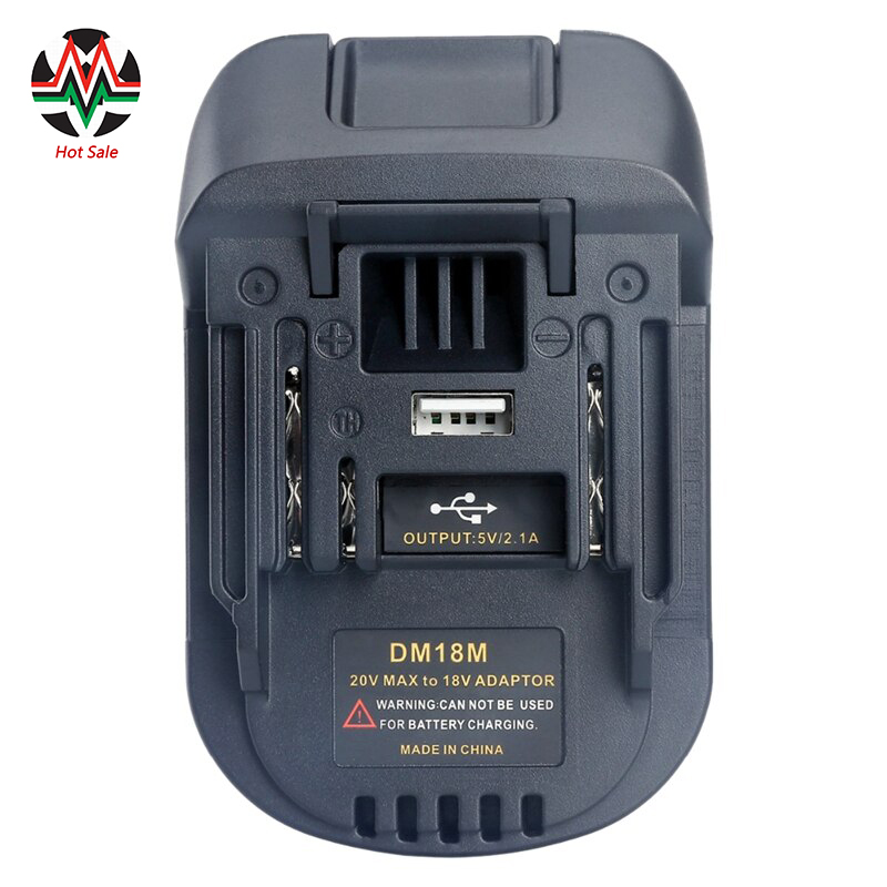 20V To 18V Battery Convertor Adapter DM18M For Dewalt For Mikwaukee to Li-Ion Charger For MAKITA BL1830 BL1850 Batteries 2020