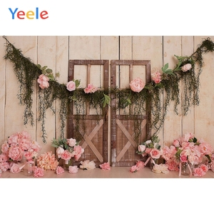 Image 2 - Yeele Newborn Baby Wood Floral Birthday Decor Children Water Wave Photography Background Photographic Backdrops For Photo Studio