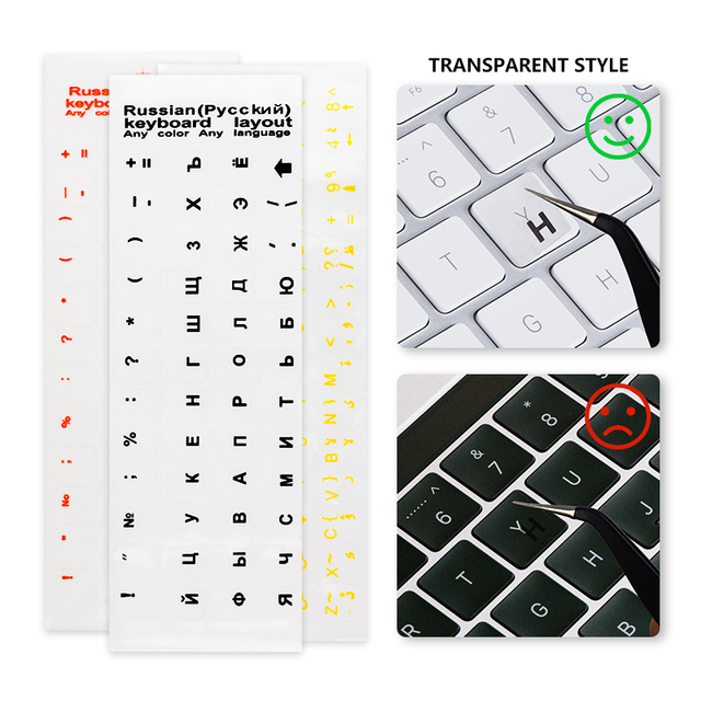Waterproof Laptop Keyboard Stickers Spanish/English/Russian/French Deutsch/Arabic/Korean/Japanese/Hebrew/Thai Keyboard Layout 4