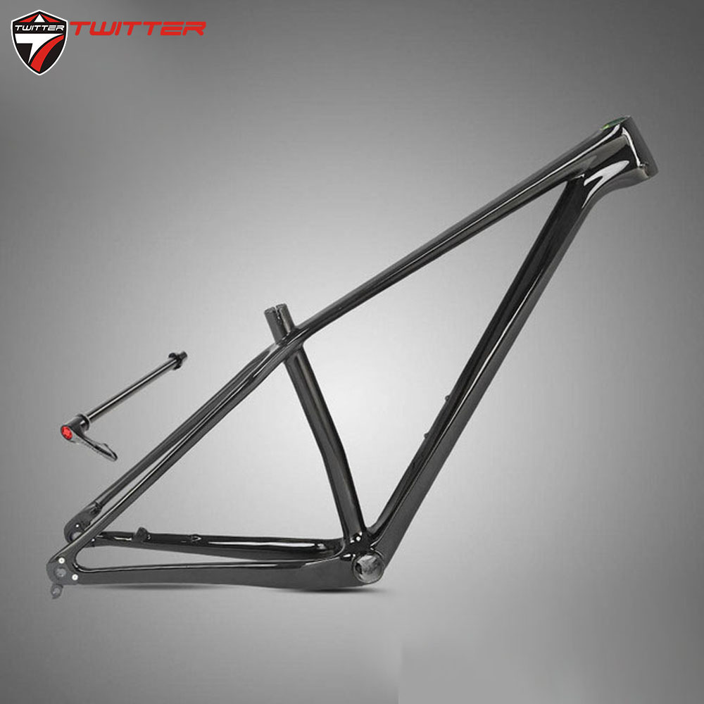 Twitter M5 Mtb <font><b>Carbon</b></font> 18K <font><b>Frame</b></font> <font><b>29</b></font> 27.5er Thru Axle 12*142mm Matte Gloss Black <font><b>Carbon</b></font> Fibre Disc Brake Inner Cable image