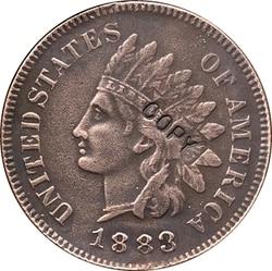 1883 копия монеты в индийском стиле