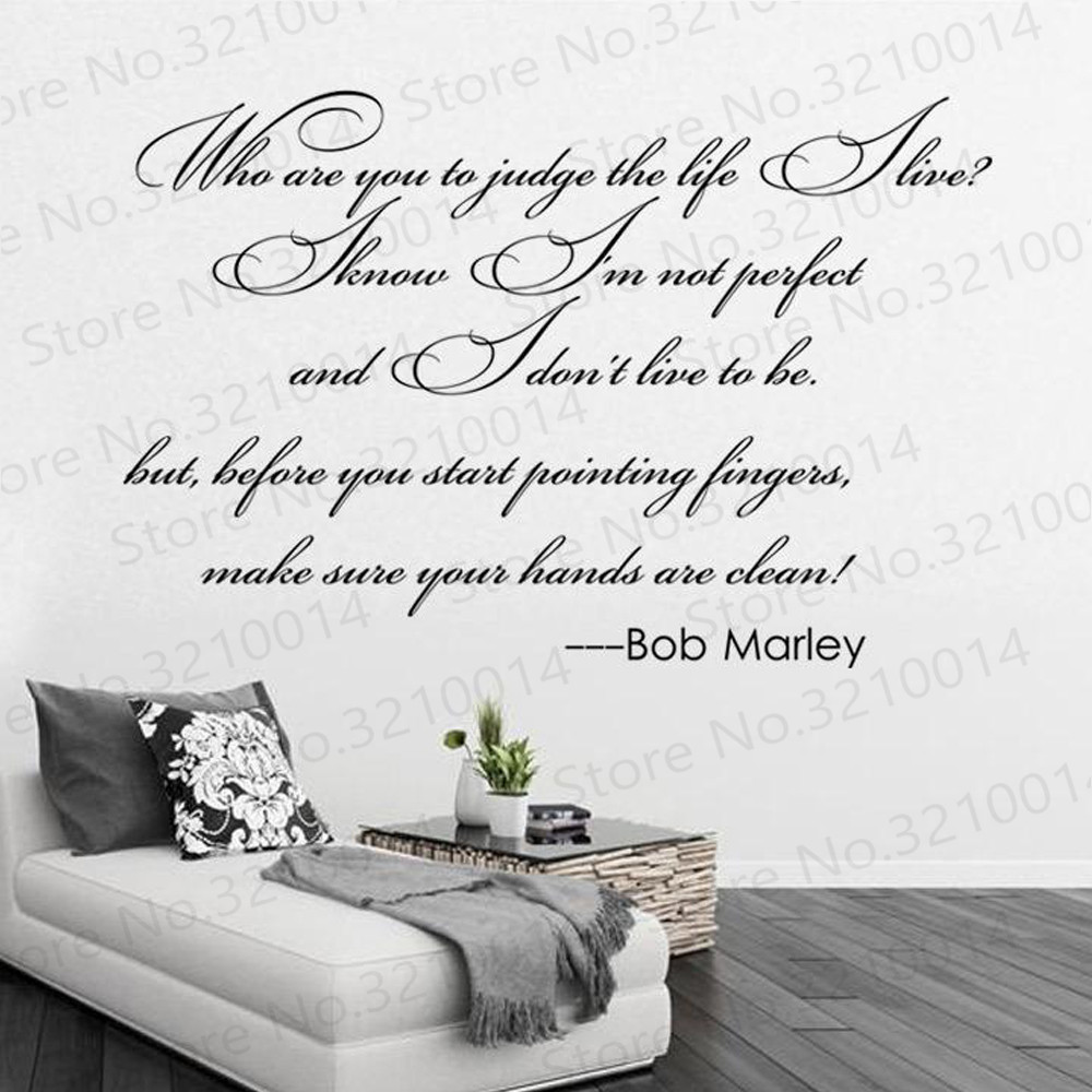 Bob Marley Quotes Wall Decals Vinyl Word And Letters Wall Art Decals Large Quotes Wall Stickers Murals Pw174 Wall Stickers Aliexpress