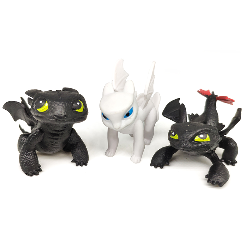 How To Train Your Dragon Toothless Night Fury Action Figure Toyless Toothless Head Can Be Rotated Toys For Children's Light Fury