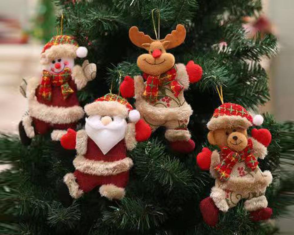 5 шт. кукла Санта Снеговик ручная работа Кукла Новогодняя елка Рождественские украшения домашний подарок Волшебные садовые фигурки