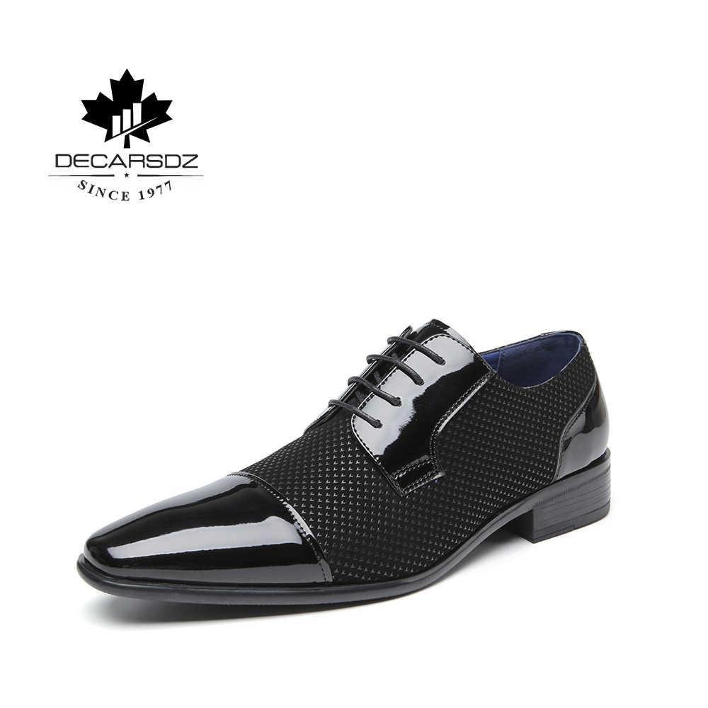 חדש פורמליות עור נעלי גברים שמלת נעלי מותג משרד אופנה נעלי זכר עיצוב יוקרה הנעלה באיכות גבוהה משרד גברים של נעליים
