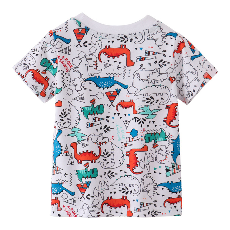 Jumping meters Summer 100% Cotton Boys Girls T shirts Tigers Print New  Baby Clothes Hot Selling Boys Tees Animals Kids Tops 6