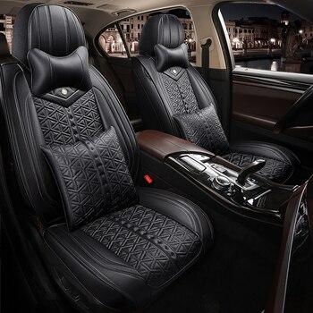 La cobertura completa Eco-cuero fundas de asientos de coche asiento de cuero PU fundas para BMW Serie 6 bmw5series bmw7 serie