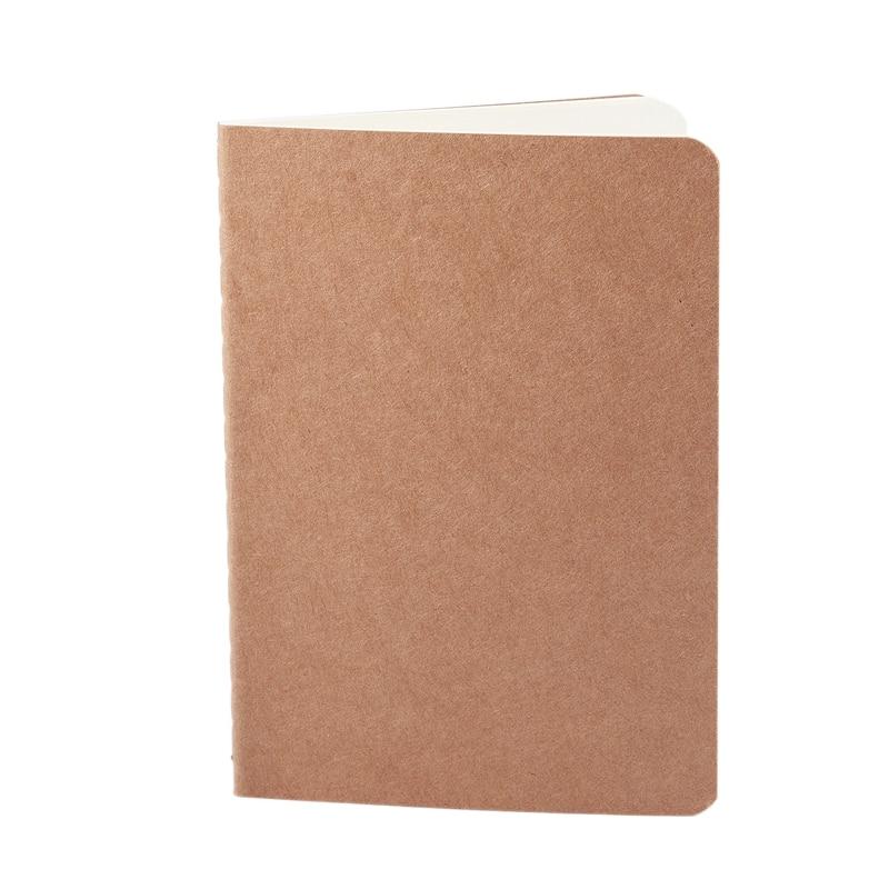 Cahier blanc bloc-notes livre vintage doux cahier mémos quotidiens papier Kraft journal cahiers brun, 140*100mm