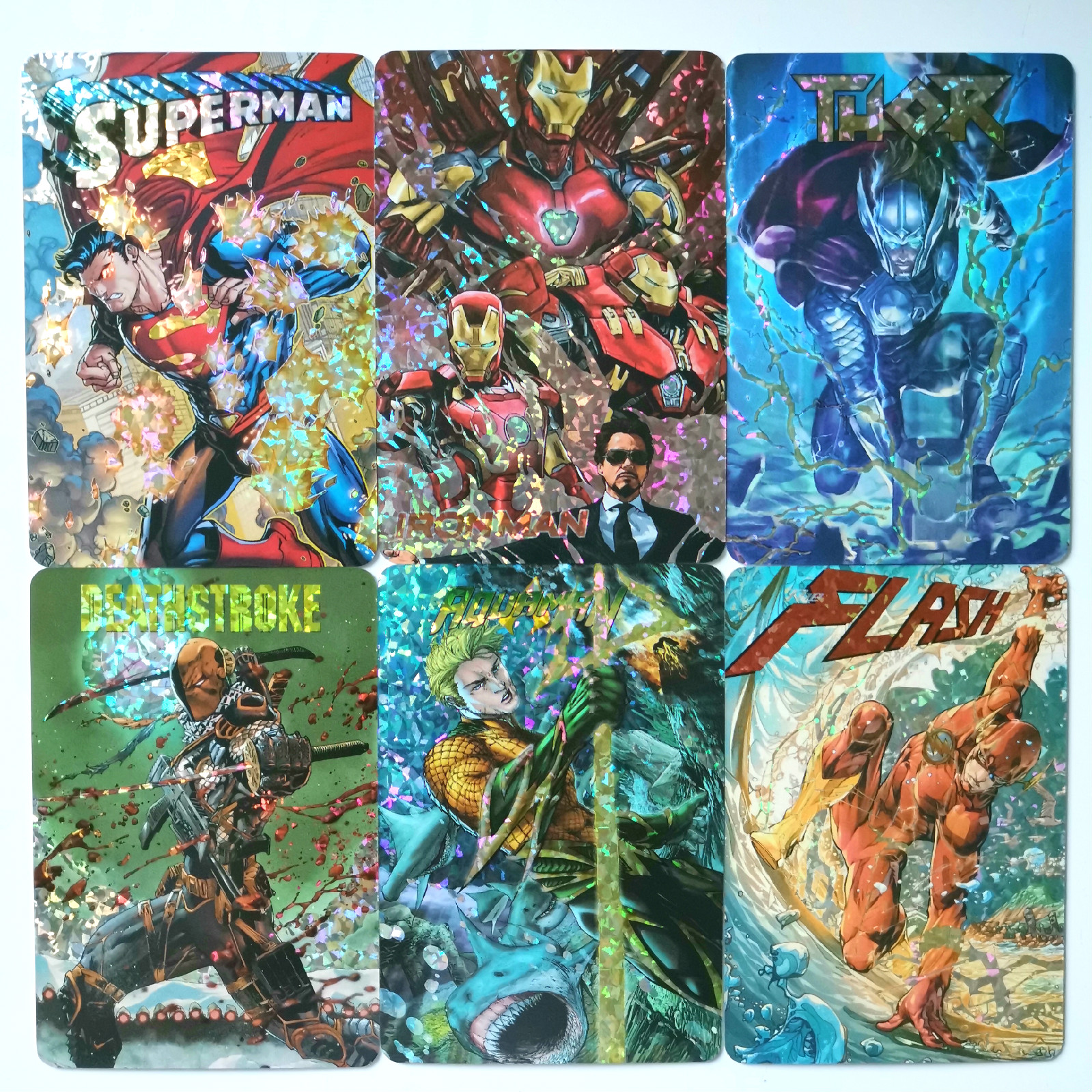 18-20pcs/set Superhero Marvel DC Toys Hobbies Hobby Collectibles Game Collection Anime Cards