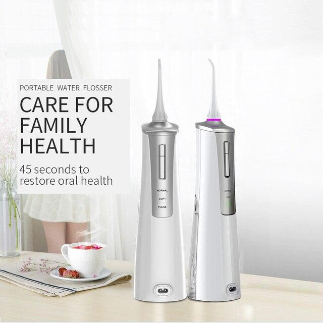 휴대용 물 flosser 구강 치아 irrigator 구강 공동 청소 치과 클리너 워터 제트 flosser 청소 치아