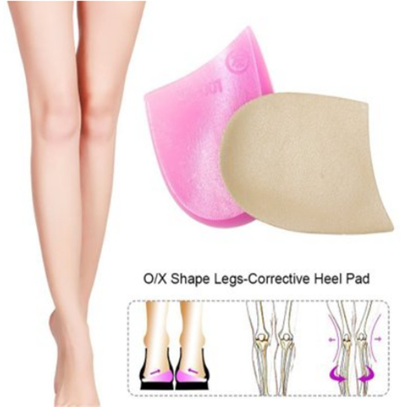 Orthopedic Insoles Shoe Inserts Medial & Lateral Heel Lift Silicone Pads Corrective O/X Type Leg For Women/Men