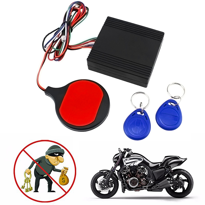 Anti-theft Motorcycle Security System Hidden Lock Engine Cut Off Immobilizer IC Card Alarm Induction Invisible Anti-stall System