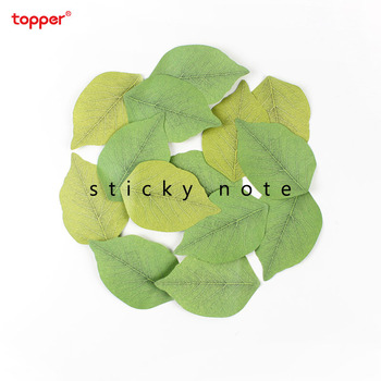Cute leaf sticky notes Kawaii memo pad creative plant post-it notes notepads office school supplies new stationery for students 2pcs creative students stationery post it note with writing pad clip cartoon cute n times posted message notes