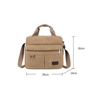 Image 2 - Men Shoulder Messenger Bags For Men Canvas Travel Bag Fashion Handbag high Quality Business Vintage Bag For Women
