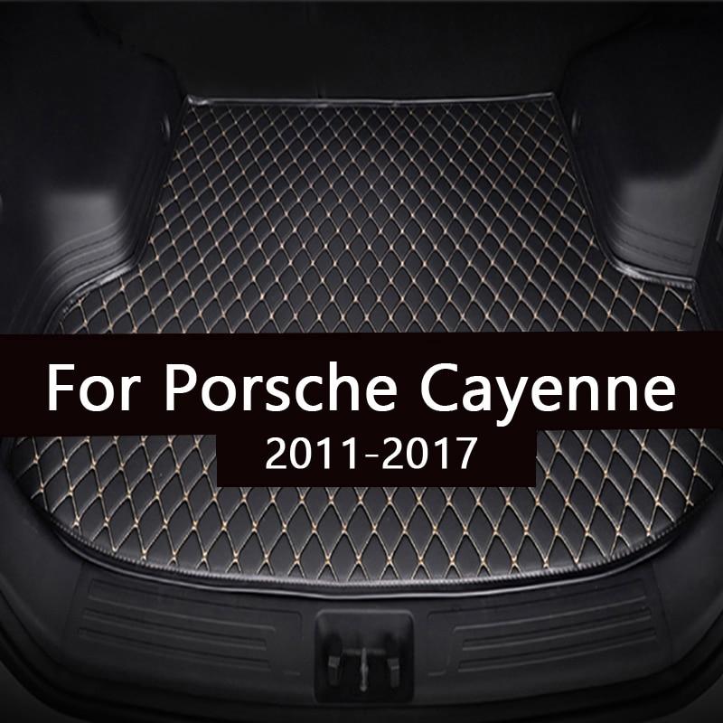 Коврик для багажника автомобиля для Porsche Cayenne 2011 2012 2013 2014 2015 2016 2017 грузового лайнера ковры салонные аксессуары напольные покрытия