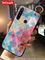 SoCouple Redmi Note 9 caso de la correa de muñeca de carcasa de teléfono con soporte para Xiaomi Mi 9t pro 9 A3 Lite Poco X3 Redmi Nota 9 Pro 8 7 pro K30