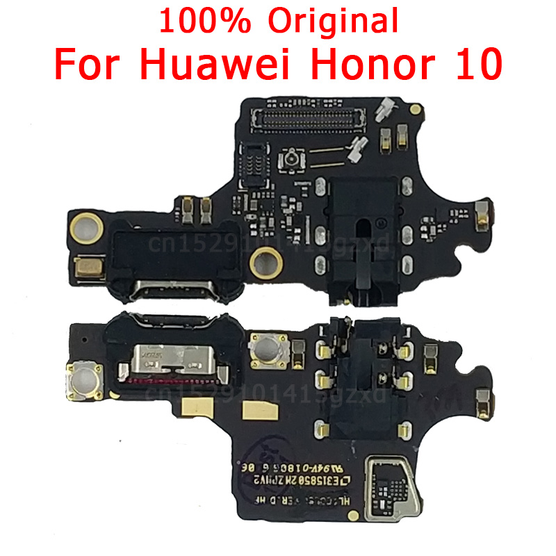Original Spare Parts For Huawei Honor 10 Charging Port USB Charger Board PCB Dork Connector Flex Cable Microphone Replacement