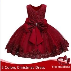 Toddler Girl Dress Christmas Dress For Girl Red Tutu Dress Baby Girl 1 Year Birthday Dress Toddler Christening Gown Girl Dresses(China)