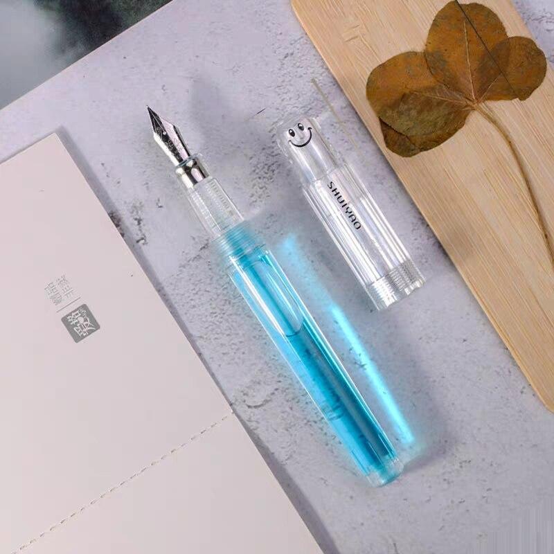Lingmo LORELEI Transparent Clear Fountain Pen Ink Pen EF Nib Stationery Office School Supplies Penna Stilografica