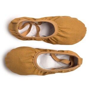 Image 5 - USHINE nowe profesjonalne pełne gumki sznurowadło treningowe kształtowanie ciała joga klapki buty do tańca baletowego dzieci dziewczyny kobieta