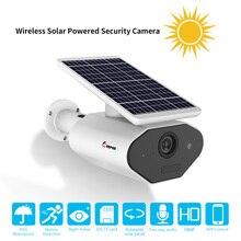 Keeper cámara de seguridad alimentada por energía Solar para exteriores, cámara de seguridad de 1080P IP65, batería recargable de baja potencia, sin cables, cámaras solares WiFi
