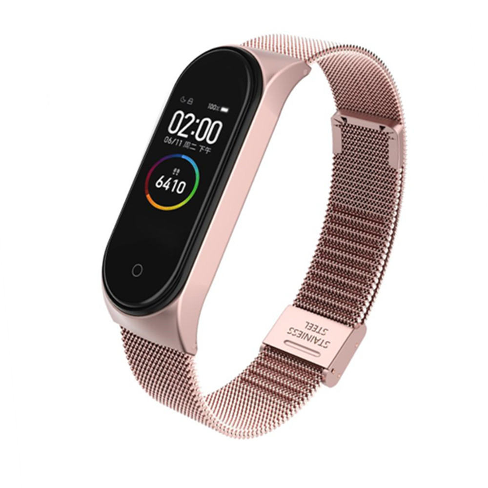 Bracelet Mi Band 3 4 Wrist Strap Metal Screwless Stainless Steel For Xiaomi Mi Band 4 3 Strap Miband 3 4 Wristbands Pulseira
