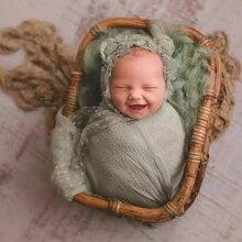Newborn Photography Props Handmade Retro Woven Basket Boy Girl Studio Baby Photo Accessories for Photography Shoot