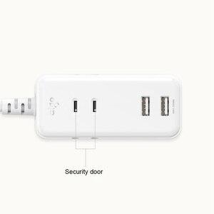 Image 2 - שיאו mi mi Aigo שקע לוח USB תשלום מהיר חכם נייד הארכת תיקון 2 AC 3USB יציאות לחבר כוח השקע Youpin