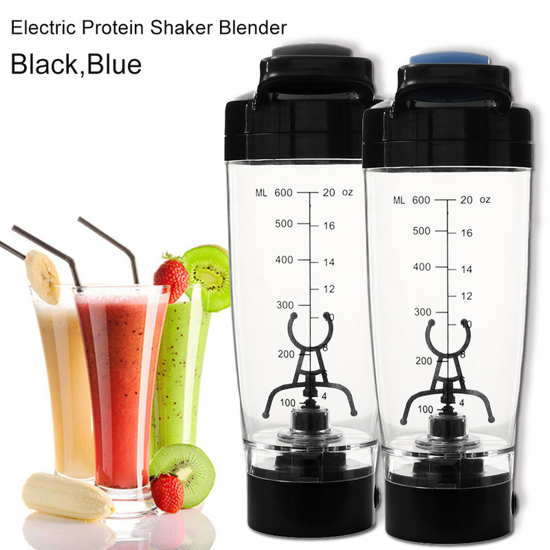 600ml Electric Protein Powder Shake Cup Fitness Cup Blender Brewing Water Bottle Automatic Movement Mixer Cup Eco Friendly image