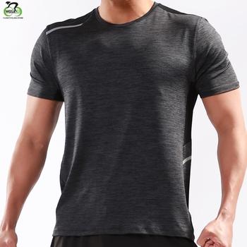 WOSAWE koszulka do biegania mężczyźni sportowa koszulka do biegania szybkoschnący koszykówka trening piłkarski T Shirt mężczyźni odzież sportowa odzież sportowa tanie i dobre opinie Lato Poliester Pasuje mniejszy niż zwykle proszę sprawdzić ten sklep jest dobór informacji LS285 LS286