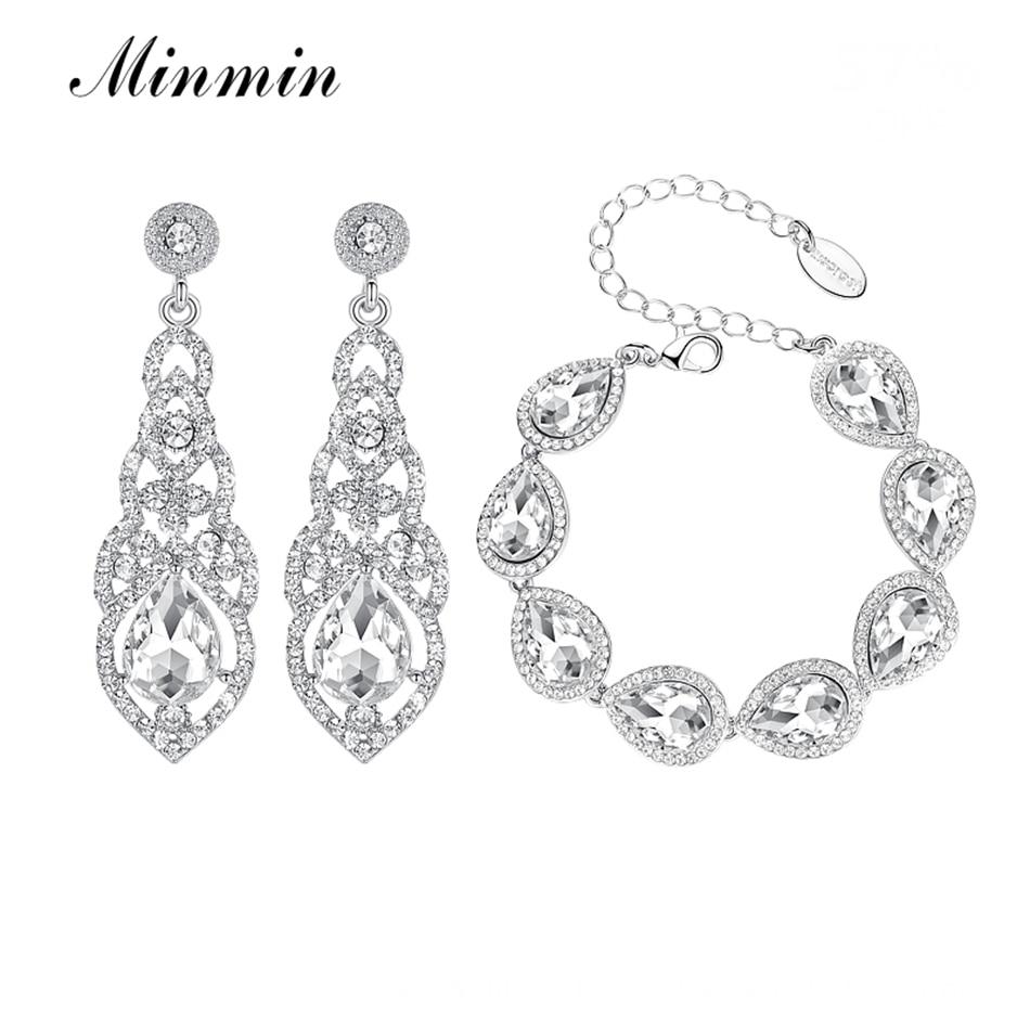 Minmin Silver Color Luxury Crystal