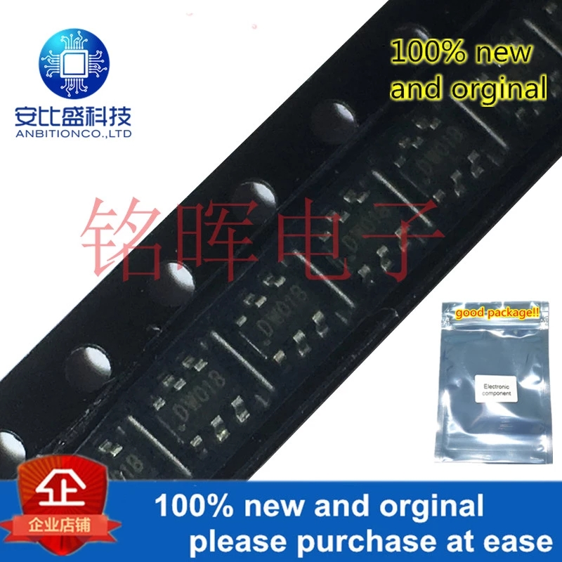 50pcs 100% New And Orgianl DW01B DW01 SOT23-6 SOT-163 In Stock