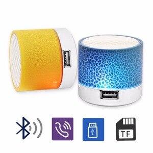 Image 3 - Bluetooth Speaker Mini Wireless Loudspeaker Crack LED TF Card USB Subwoofer Portable MP3 Music Sound Column for PC Mobile Phone