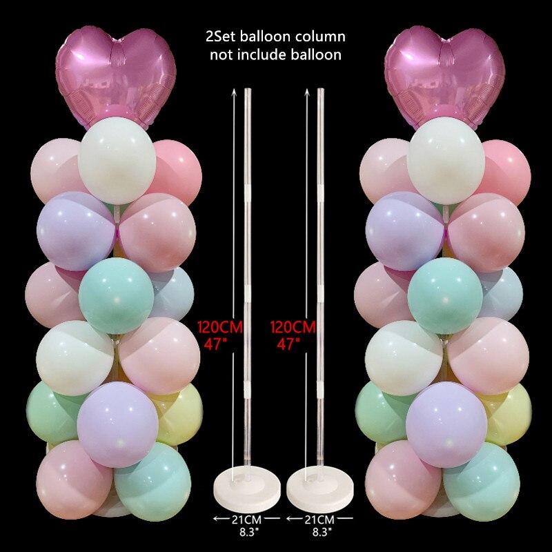 1 conjunto festa de aniversário balões estande balões de casamento decorações de festa de aniversário crianças adulto balão coluna titular vara Decorações de festas DIY    -