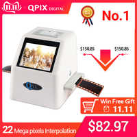 Résolution négative portative de Scanner de Film de Scanner de glissière de 35mm 22 méga Pixels 110 135 convertisseur de Film numérique de 126KPK avec 2.4 LCD