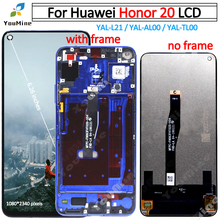 Сменный сенсорный ЖК экран для Honor 20, дигитайзер сенсорного экрана, для honor 20, с ЖК экраном, с ЖК экраном, для Honor 20, с цифровым преобразователем, в сборке, для honor 20, с ЖК экраном, для YAL L21,