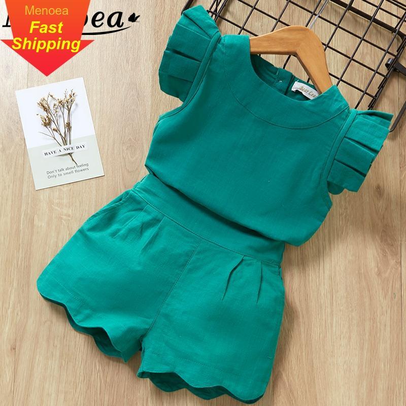 子供服夏新スタイルのブランドのベビー半袖 Tシャツ + パンツドレス 2 本子供服スーツ