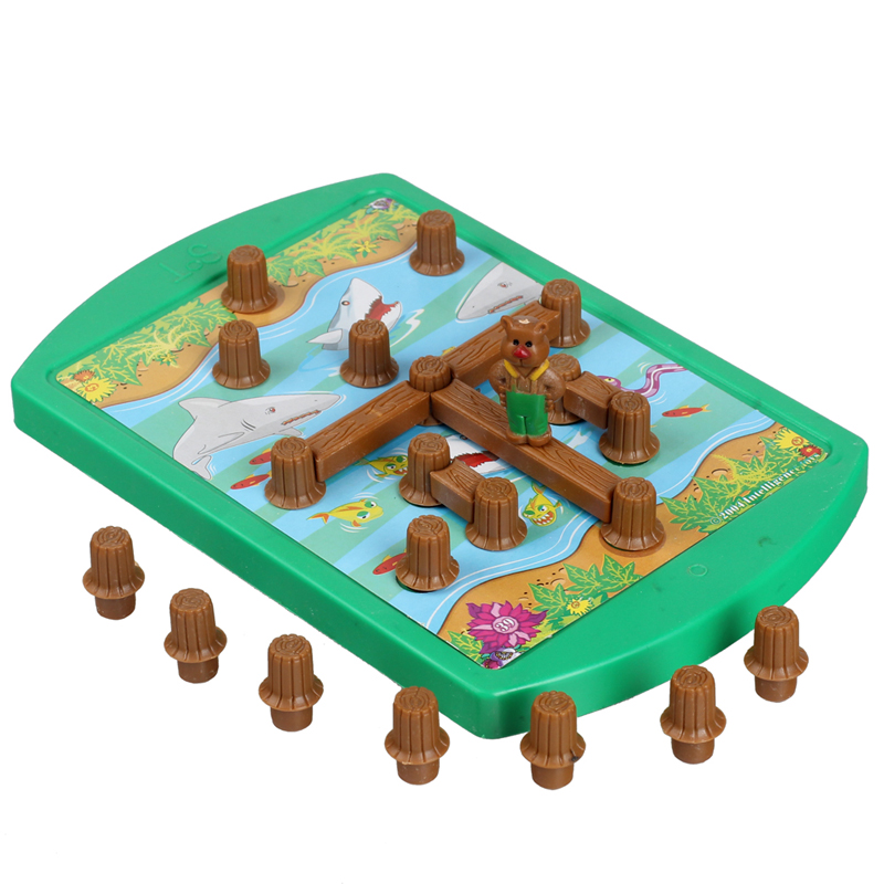 Bear crossing the river crossing the bridge logical thinking task maze early education puzzle game toy