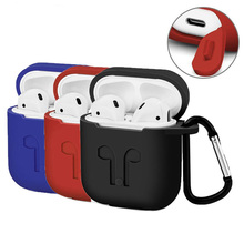 Fashion Silicone Headphone Set Anti-fall Belt Hook Case Thin Case With Hanging Buckle Earphone Headset Box For Apple Airpods