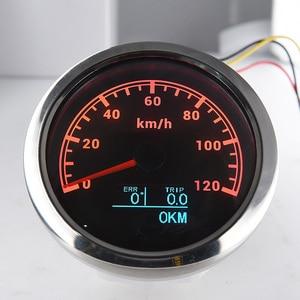 "Image 5 - מד מהירות GPS 3 ב 1 עם בורג טיול סה""כ קילומטראז 85MM LCD תצוגת מהירות מד מרחק Fit עבור רכב סירה ימי אופנוע 12V 24V"