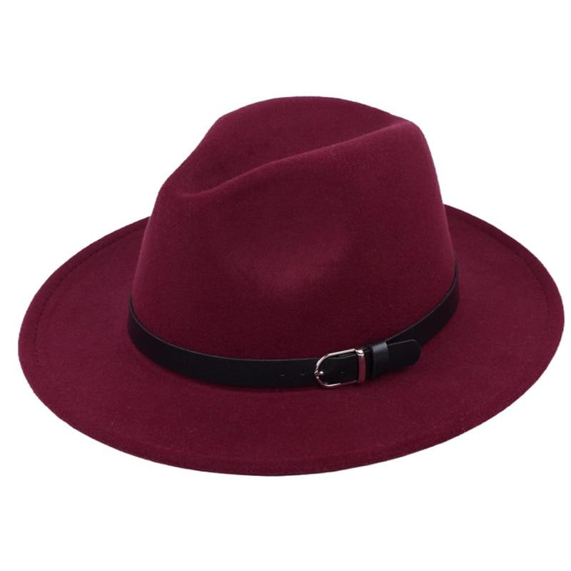 Classic British Fedora Hat Men Women Imitation Woolen Winter Felt Hats Fashion Jazz Hat Chapeau Wholesale 13
