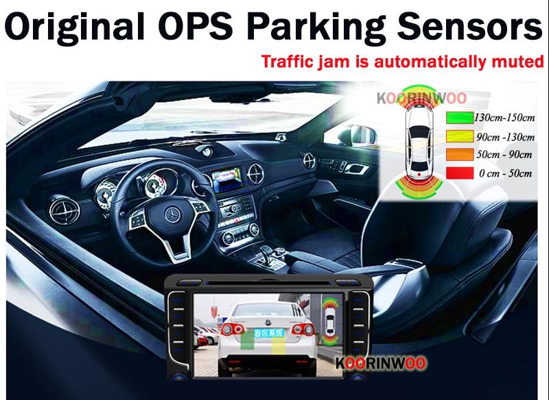 HD C/ámara de visi/ón trasera para coche con sensor de aparcamiento de radar impermeable /ángulo de visi/ón de 170 grados Calistouk c/ámara de visi/ón trasera