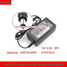 Oryginalne 14V 2 5A zasilacz sieciowy A3514-DPN А3514_dpn E227454 301536 dla SAMSUNG A3514 SA300 DHS LS27D360 S27D360H Monitor LED tanie tanio viknight 14 v A6024_DSM US EU UK AU Power Cord ( Free ) 100-240v~50 60Hz 0 9A 181g 6 0X4 0mm 1 x Ac Adapter + 1 x Power Cord