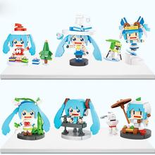LegoINGlys creators music game animation Hatsune Miku dress mini micro diamond building blocks model nano bricks toys for gifts