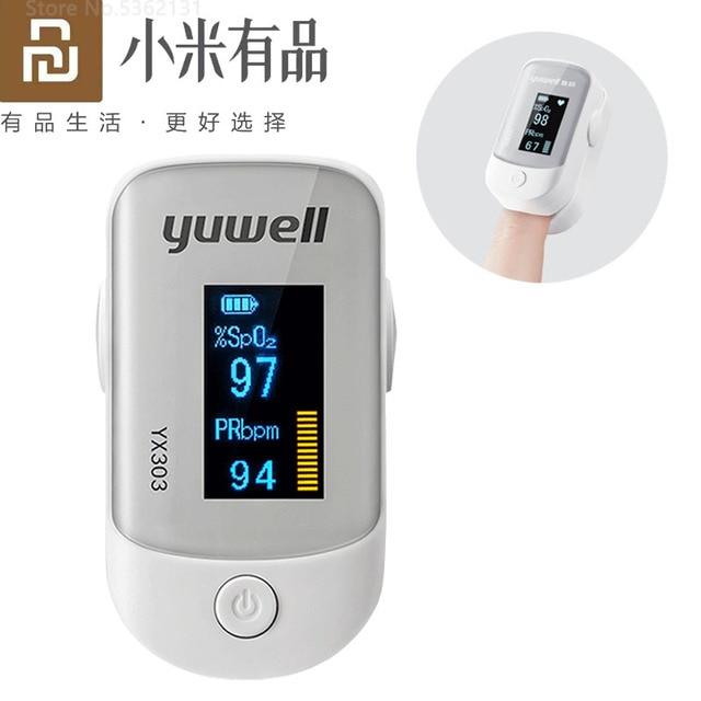 Youpin Yuwell YX305 YX303 oxymètre de pouls numérique au bout des doigts oxymètre de pouls médical moniteur de fréquence cardiaque écran OLED pour la santé des soins