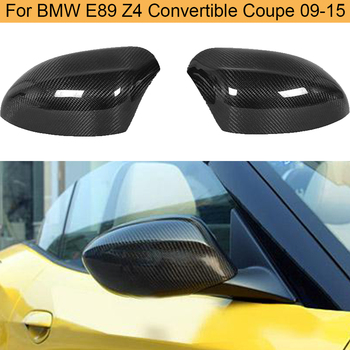 Carbon Fiber Rearview Mirror Covers Caps for BMW E89 Z4 Convertible Coupe 2009-2015 20i 28i 35i 30i Add on Side Mirror Covers image