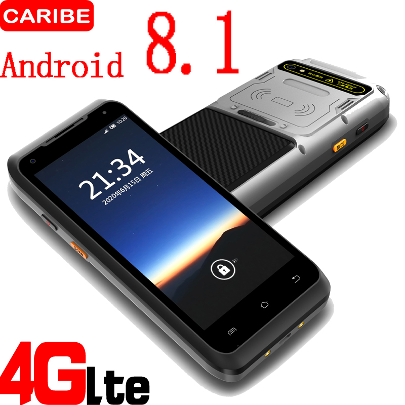 CARIBE Industry PDA terminal RFID Reader Android 8.1 Handheld barcode Scanner with 5.5 inch full touch screen