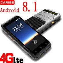 CARIBE – lecteur de codes-barres portatif avec écran tactile de 8.1 pouces, lecteur de terminal RFID avec PDA, Android 5.5