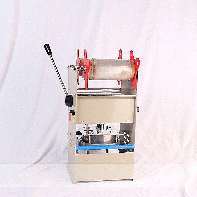 Scelleur manuel en plastique Machine de cachetage plateaux scellant d'emballage pour la nourriture à emporter emballage serrure frais boîte à déjeuner Machine de cachetage - 2